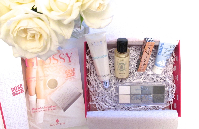 glossybox novembre 2015 rosecarpet