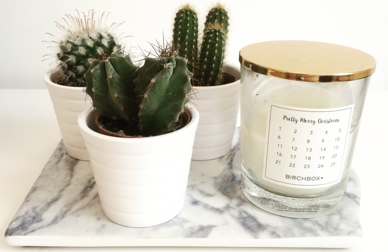 mini cactus ikea planche marbre h&m home bougie birchbox