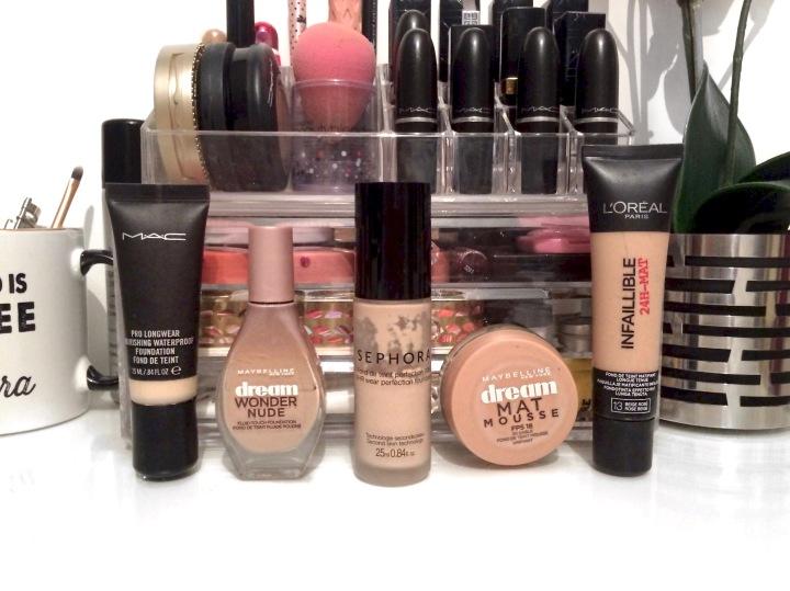 fond de teint préféré mac pro longwear dream wonder nude matmousse gemey maybelline l'oréal infaillible 24h mat sephora maquillage