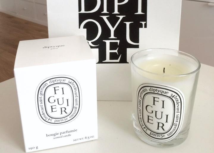 bougie parfumée candle diptyque figuier
