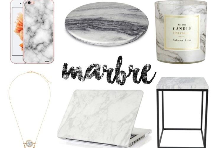 décoration tendance marbre marble aliexpress h&m home la redoute alinéa