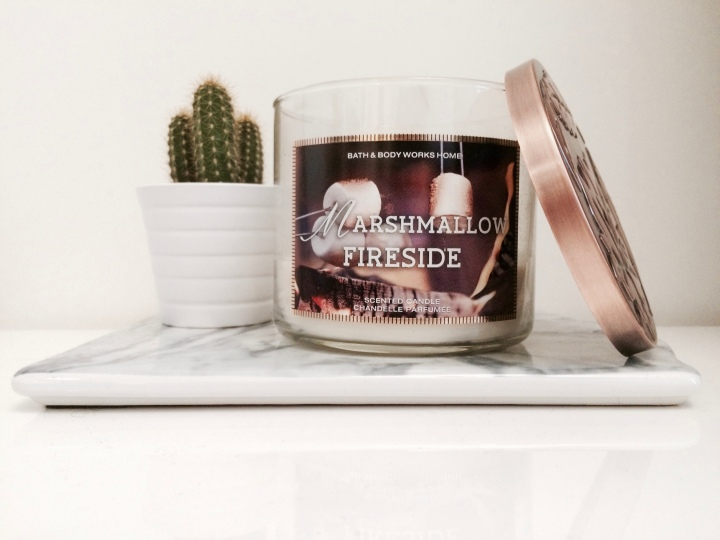 bougie parfumée scented candle bath and body works marshmallow fireside cactus ikea marble marbre