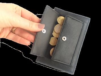 mini porte cartes portefeuille mango noir