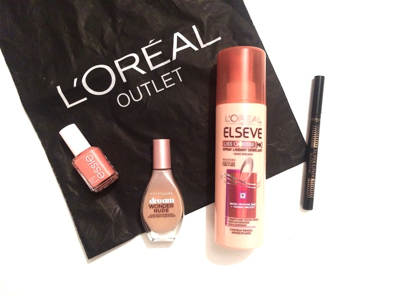 L'oréal outler marques avenue ile saint denis haul shopping maquillage