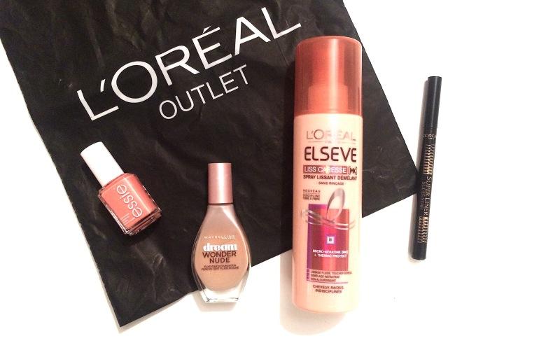 L'oréal outler marques avenue ile saint denis haul shopping maquillage