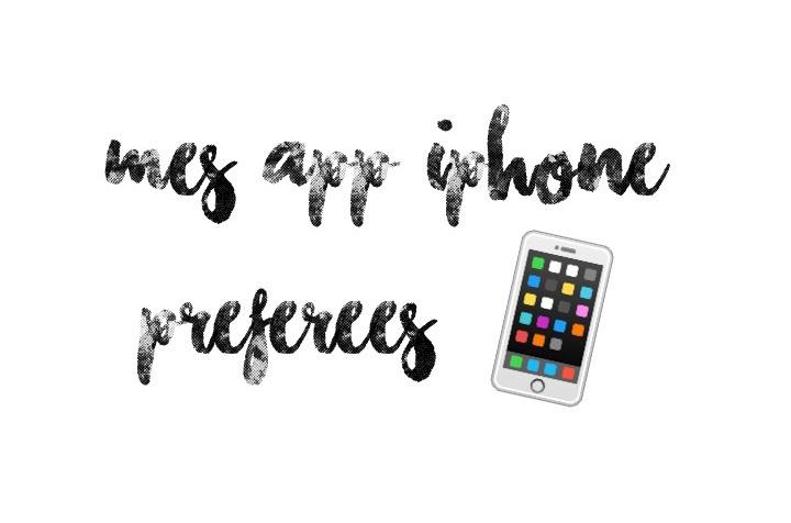 applications app iphone préférées