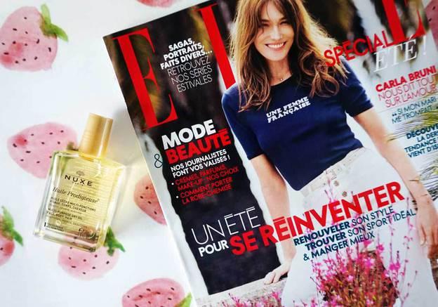 magazine elle juillet 2016 huile prodigieuse nuxe cadeau