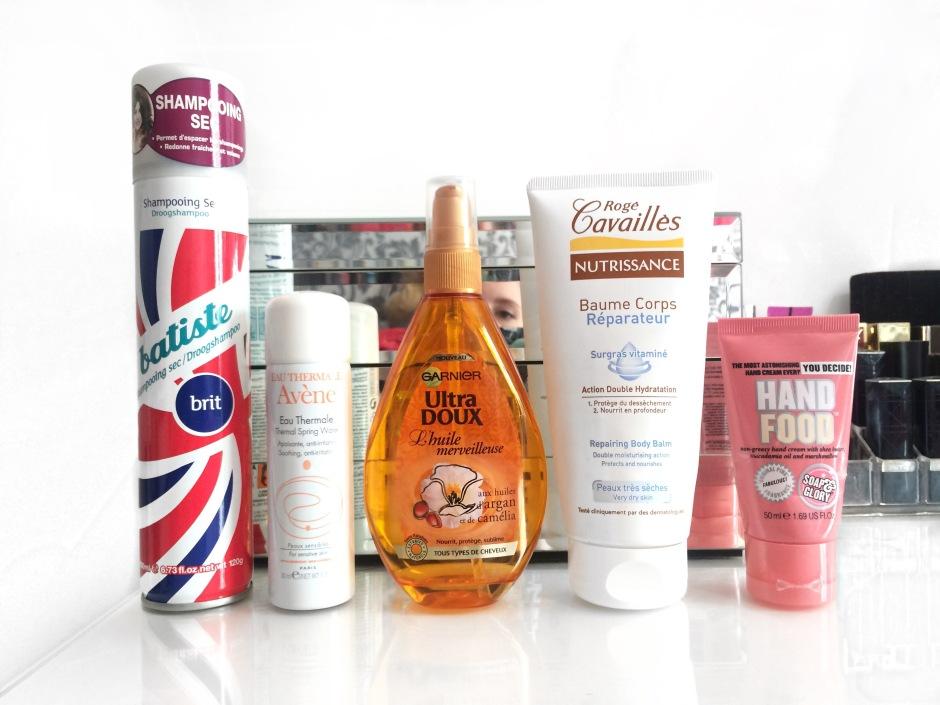 produits finis batiste shampoing sec eau thermale avene ultra doux huile merveilleuse baume corps rogé cavailles hand food soap and glory