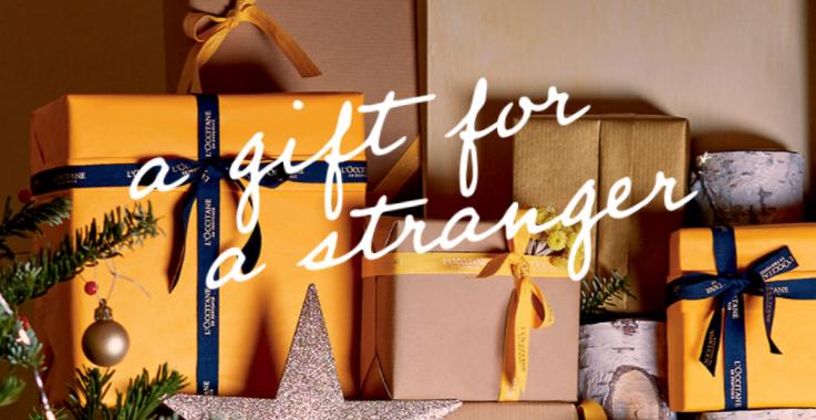 bon plan a gift for a stranger l'occitane cadeau noel 2016