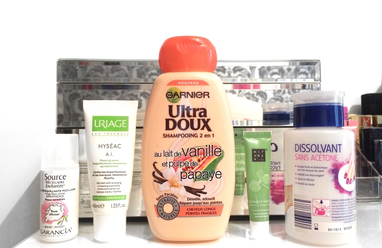 produits finis source micellaire garancia uriage hyséac crème ultra doux garnier vanille papaye rituals mains dissolvant cien lidl avis