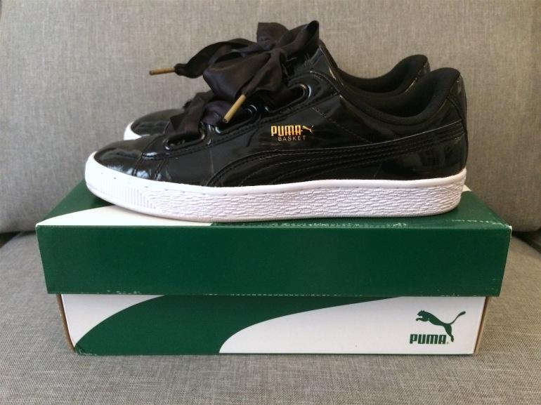 cadeaux noel 2016 puma heart patent sneakers baskets noires vernies