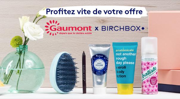 Bon plan : Gaumont x Birchbox à 3€!