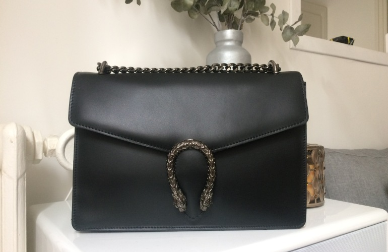 sac inspiration gucci dionysus cuir noir paris france