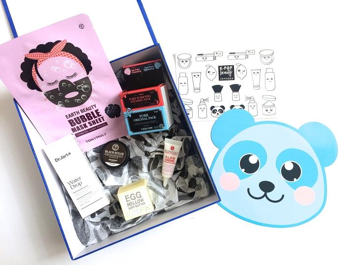 contenu revue avis sephora box kpop beauty produits coréens