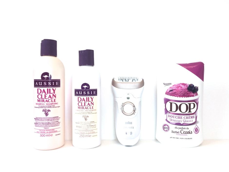 avis produits daily clean aussie braun silk epil 9 skinspa épilateur gel douche dop sorbet cassis
