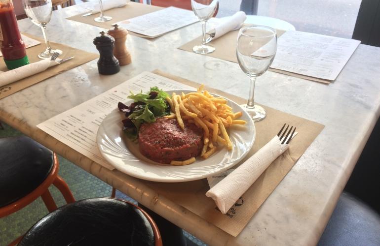 café la perle restaurant adresse paris steak tartae