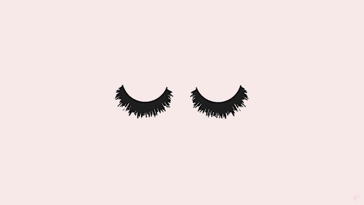 fond d'écran rose yeux lashes cils background