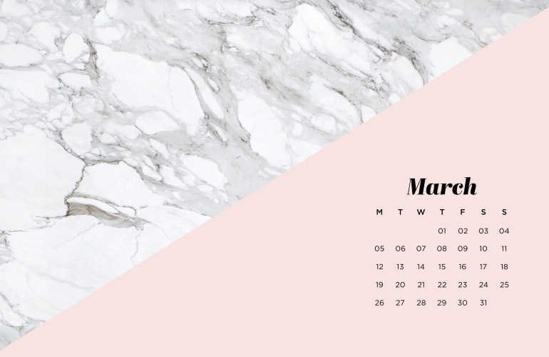 fond d'écran marbre calendrier agenda ordinateur mars wallpaper background march desktop marble