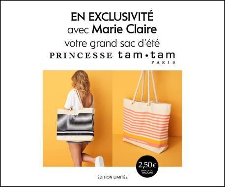 cadeau magazine marie claire aout 2018 sac de plage cabas princesse tam tam