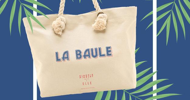 sac de plage claudie pierlot cadeau magazine elle deauville la baule biarritz ile de ré