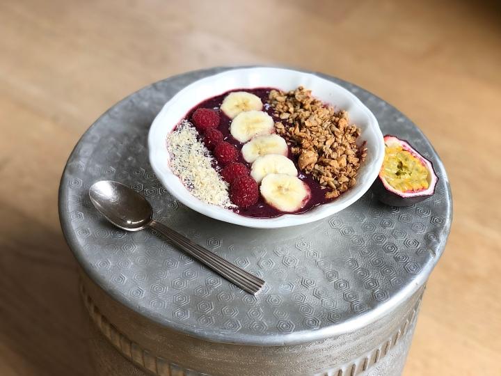 Mon açaï bowl pour un petit déjeunerhealthy